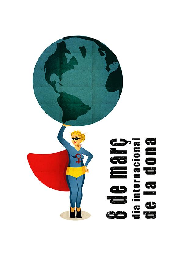 alejo negro / cartel dia internacional de la dona (1)